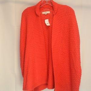 LOFT Women's M Sweater Cardigan Open Front NWT